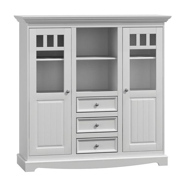 Duza Witryna Kredens Bialy Sosnowy Tall Cabinet Storage Storage Cabinet Furniture Design
