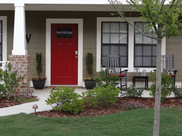 What Are The Best Paint Colours for a Front Door? - Kylie M Interiors Ben Moore Caliente  Mark&Sheri