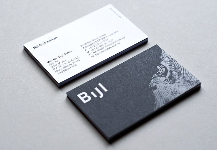 business cards - identity for Bijl Architecture - designed by Toko.nu