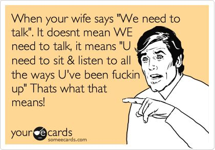 Married Guys, What do you do when your spouse says