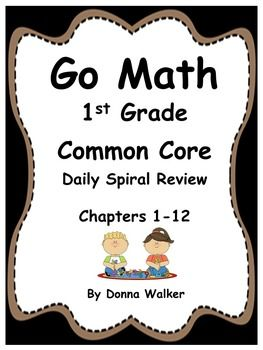 Need more spiral review in your math curriculum? This packet consists of 198 worksheets that are designed to review the standards taught in chapters 1 - 12 of Harcourts Go Math for first grade; however, they can be used with any CCSS first grade math series.