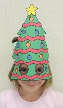 Christmas Tree Sentence Strip Hat Mask