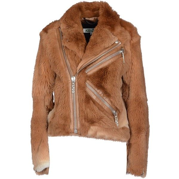 Kenzo Fur Outerwear ($940) ❤ liked on Polyvore featuring outerwear, camel and kenzo