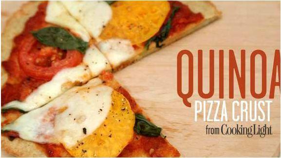 Pizza à la croûte de quinoa