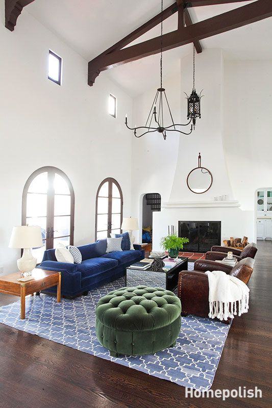 La Habra Heights - New and vintage furnishings make this Spanish Revival feel like home @Homepolish LA | designed by Orlando Soria