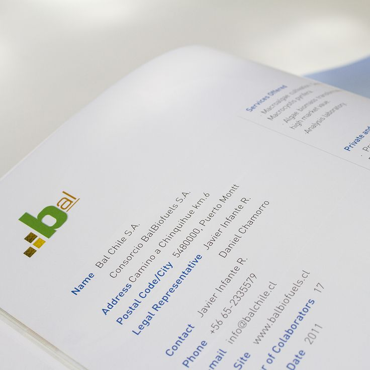 Guidebook of biotechnology companies in Chile, publication created to promote the art of the domestic industry abroad.