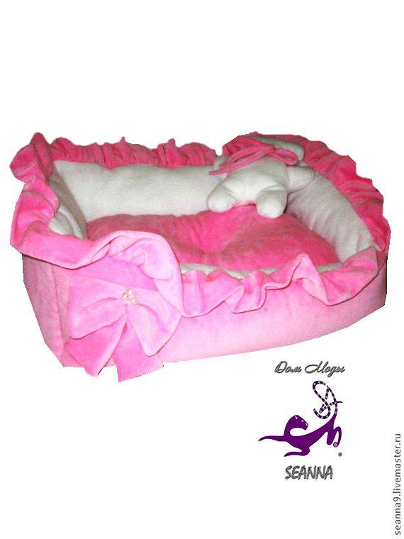"""Купить Лежанка для собаки или кошки """"Розовая Сонечка"""" с игрушкой в подарок - бледно-розовый"""