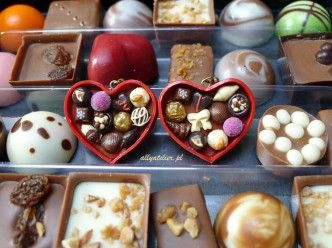 Miniature chocolates and pralines.
