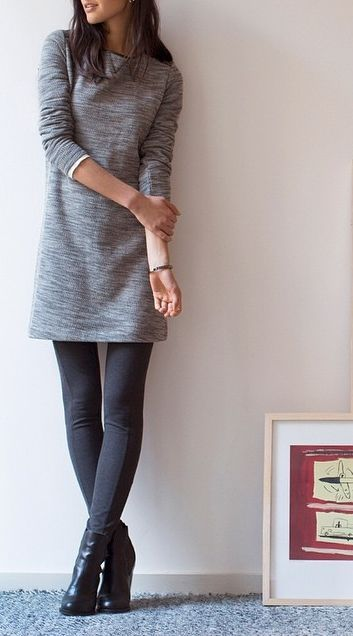Try throwing on the LOFT Ponte Pant under your favorite sweater dress for some extra warmth on these chilly mornings.