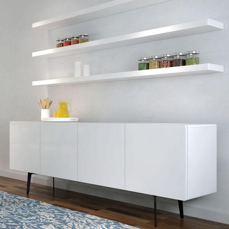 Cityside Furniture - BRANDO Sideboard with Shelves 403 White Gloss, $2,656.00 (http://citysidefurniture.com.au/brando-sideboard-with-shelves-403-white-gloss/)
