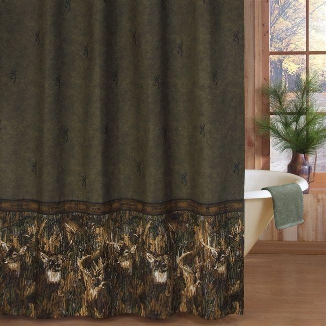 Browning Buckmark Whitetails Shower Curtain