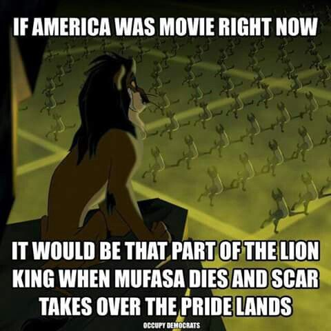 ACTUALLYYYY! In this scene scar didn't kill mufasa and take over the pride lands yet. He was getting the hyenas ready with this amazingly evil and motivational song called BE PREPARED! #lionkingnerd 😂😂😂😂