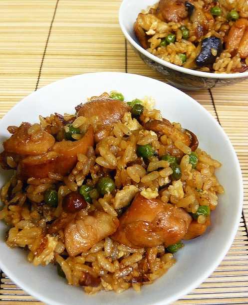 Teriyaki chicken fried rice. Actually made this pre-pinning. Approved.