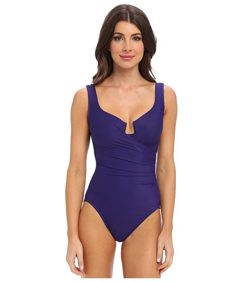 Miraclesuit Must Haves Escape Swimsuit Eggplant - Zappos.com Free Shipping  BOTH Ways