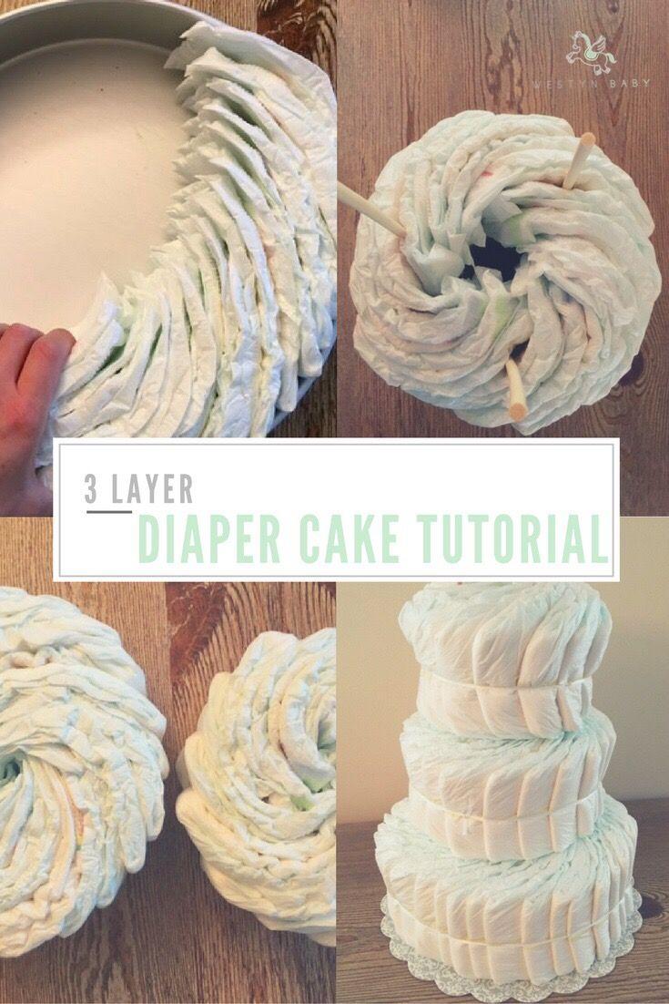3 layer diaper cake tutorial diaper cakes tutorial