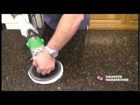 ▶ How to Re Polish a Granite or Engineered stone top - MB Stoncare MB 20. - YouTube