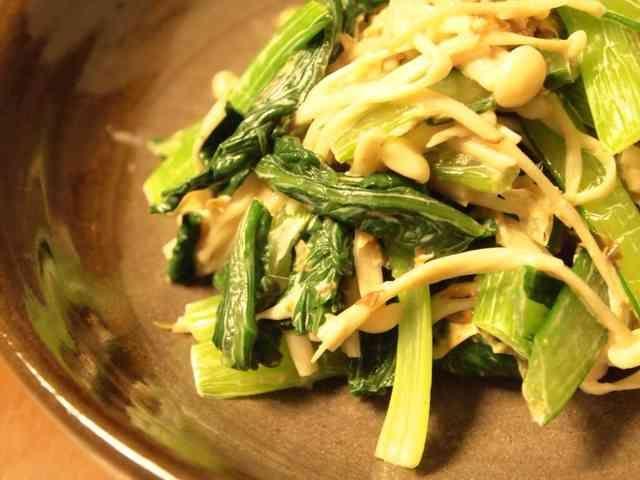 小松菜とえのきの簡単和風マヨサラダ☆の画像
