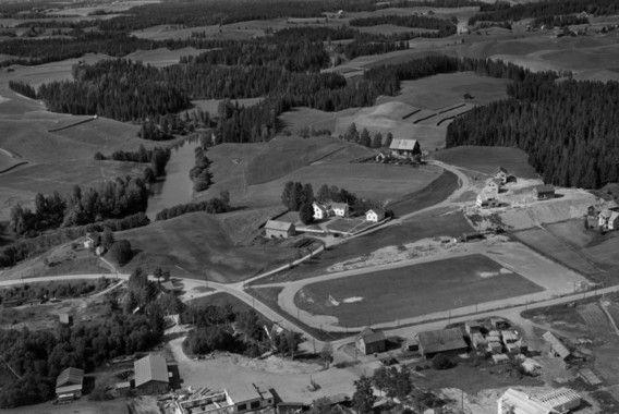 Lørenfallet i Sørum kommune 1956 - Romerike - Akershus fylke - Idrettsstadion