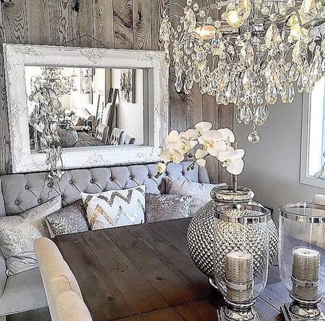 223 best images about farmhouse decor on pinterest for Glam dining room ideas