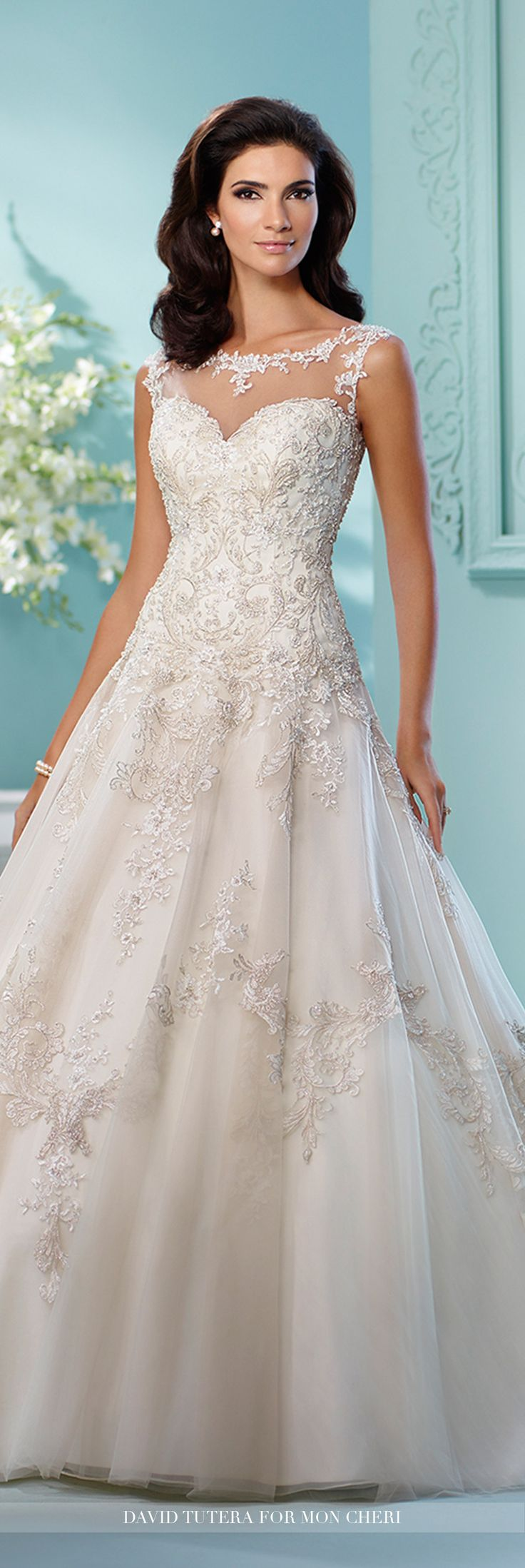 212 best david tutera wedding dresses images on pinterest wedding david tutera for mon cheri 216250 lapis tulle and organza over satin full a junglespirit Choice Image