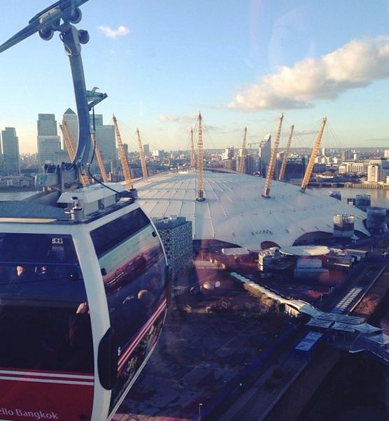 Take a trip on the Emirates Air Line in London for a view of the O2 and London's skyline.