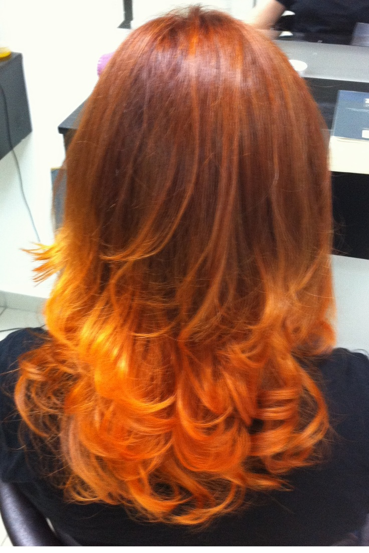 red ombre hair supposed to be coppergold turned out a