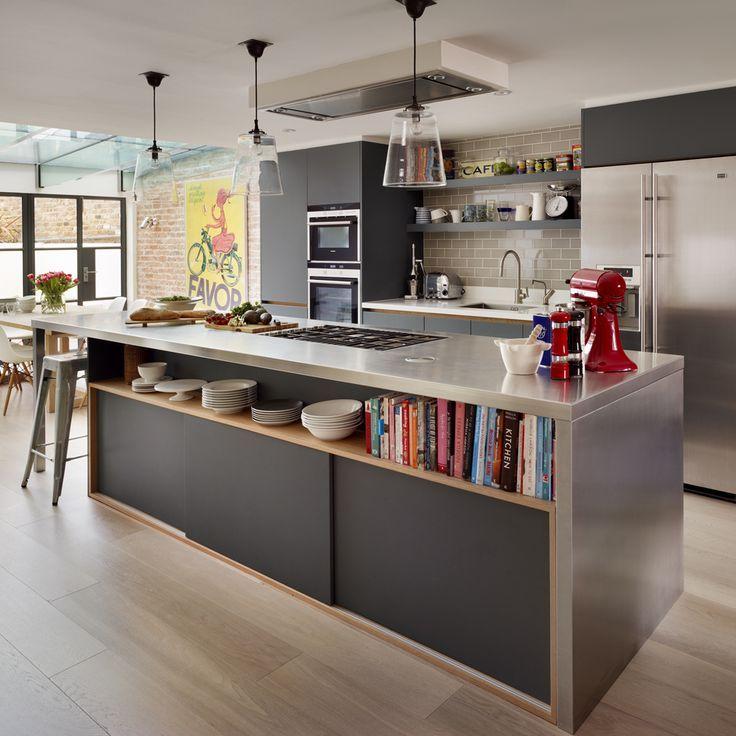 Nice Bespoke British Kitchens Wardrobes Furniture Innovative Contemporary Design from Roundhouse Zinc dark