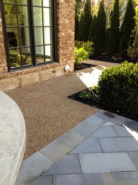 Grotto Garden- simple lines, gravel paths, hornbeam and boxwood New Albany, Ohio- McCullough's Landscape & Nursery