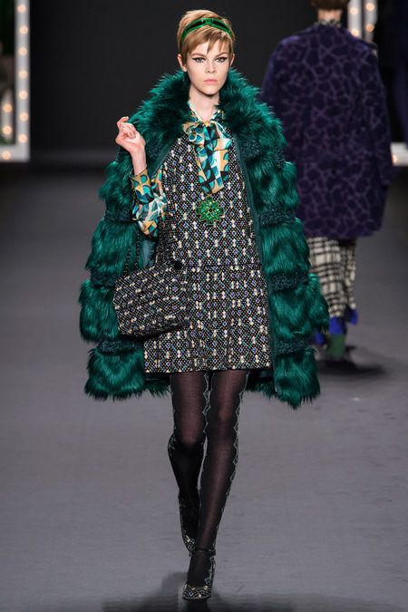 NYFW Anna Sui Fall 2013, love everything about this look (including the attitude)