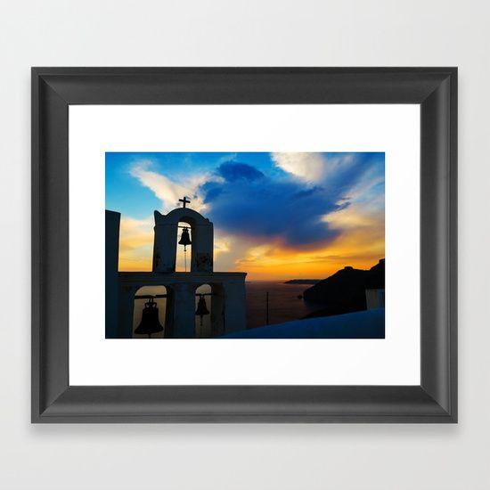 Magical Santorini Framed Art Print