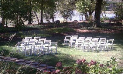 Event lawn overlooking the Chattahoochee River at Ray's on the River