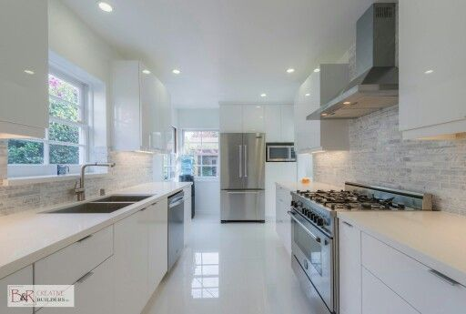 Glossy White Flat Panel Kitchen Cabinet Someday Pinterest Kitchens And House
