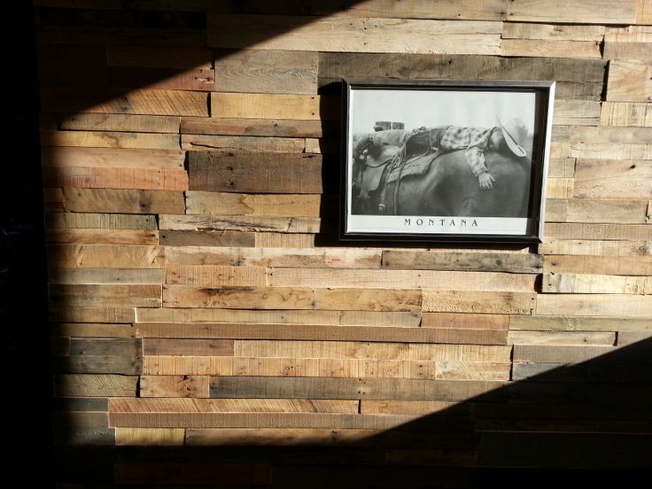 Recycled pallet wood wall panels sustainable lumber co for Reclaimed pallet wood wall