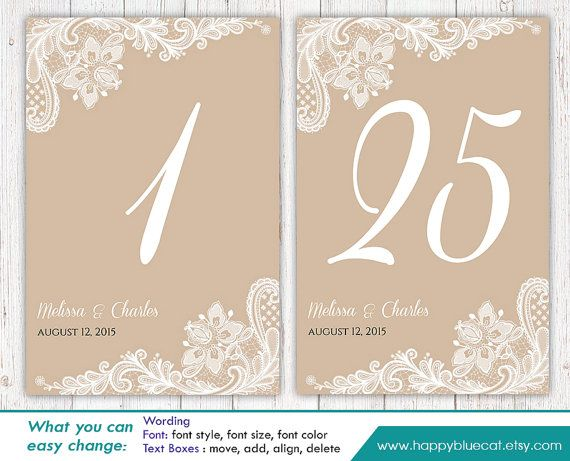 7 best table numbers images on Pinterest | Table numbers, Wedding ...