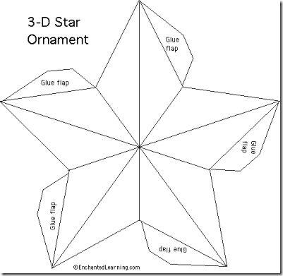 M s de 1000 ideas sobre estrellas de navidad en pinterest - Plantilla estrella navidad ...