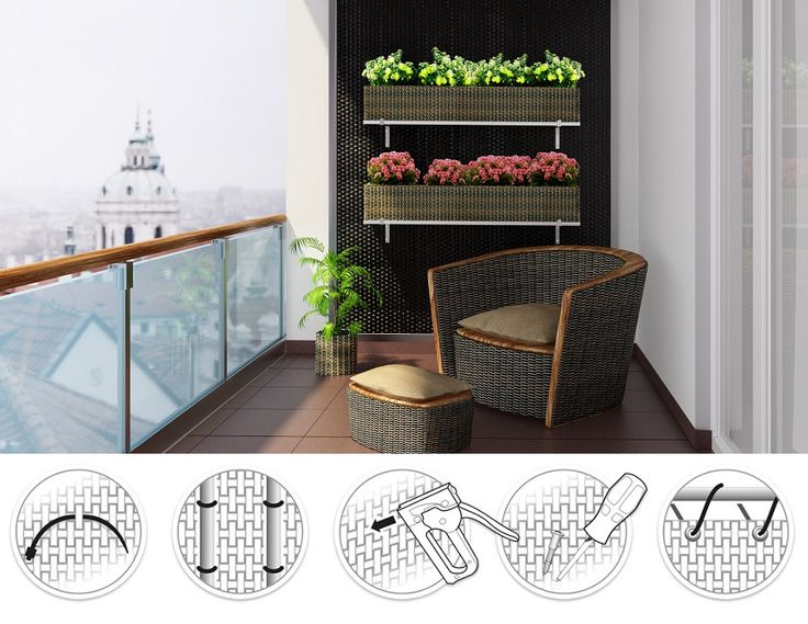 artificial rattan pots for balcony