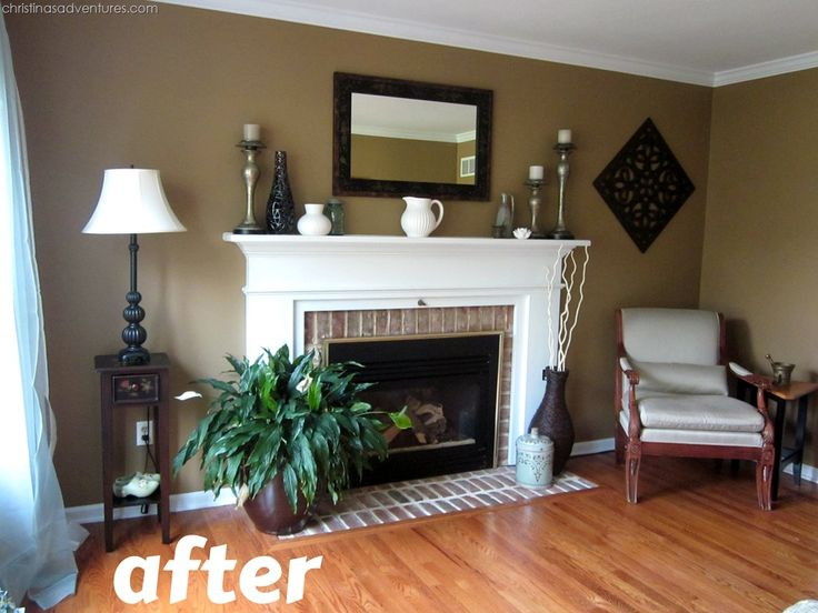living room make over tan white blue paint colors