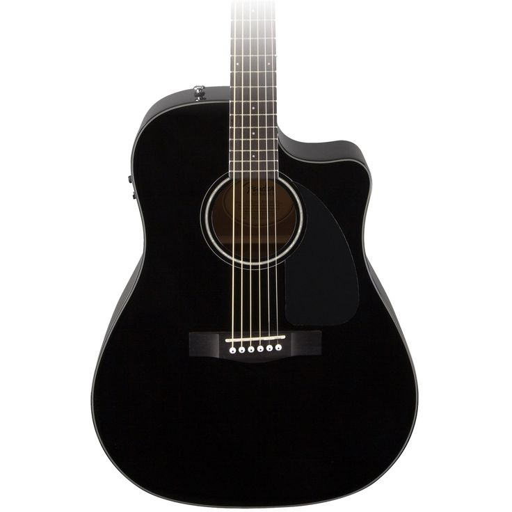 Fender CD-60CE Electro Acoustic Guitar, Black at Gear4music.com