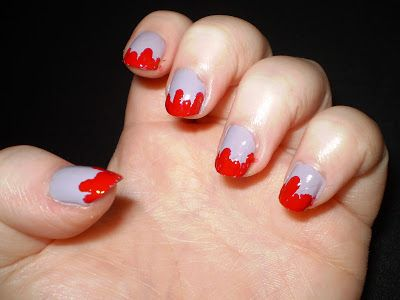Leah's beauty : HPB PRESENTS: HALLOWEEN - BLOOD DRIPPING NAILS