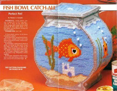 fish bowl: 19 42Plastic Canvas, Canvas Patterns, Canvas Crosses Stitches, Aa Plastic, Canvases Crosses Stitches, Plastic Canvases, Canvas Baskets, Bowls Catch Al, Goldfish Bowls