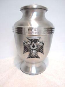 Ace of Spades Biker Motorcycle Funeral Cremation Urn Click on the link to buy now from our Ebay store- http://k2b-bulk.ebay.com/ws/eBayISAPI.dll?ListingConsole&currentPage=LCActive