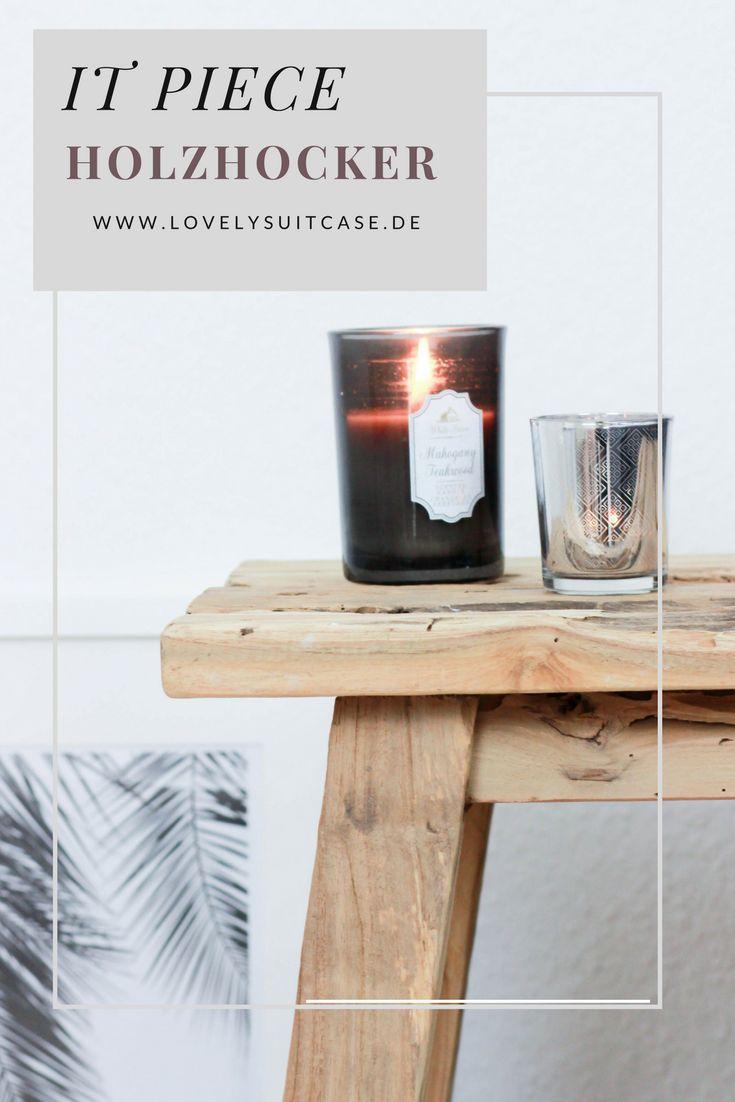Im Home Und Interior Deko Bereich Kommst Du An Einem Dekoelement Nicht  Vorbei: Dem Holzhocker