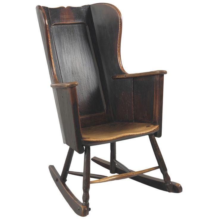 Primitive 19th Century Wing Backed Rocking Chair - 31 Best Antique Chairs Images On Pinterest Places To Visit