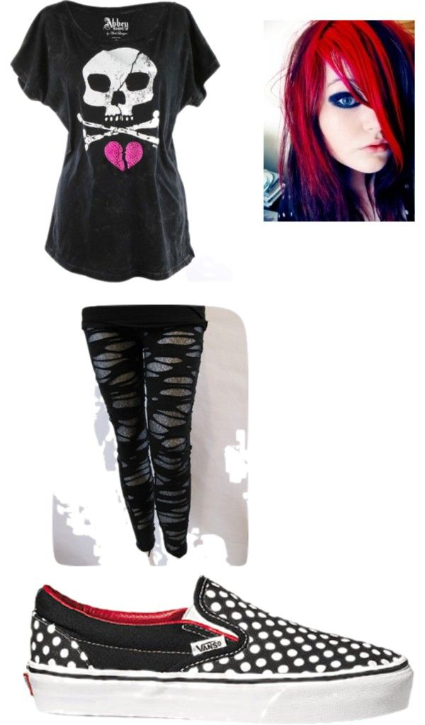 """""""Cute Emo"""" by felicite-t ❤ liked on Polyvore"""