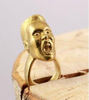 Кольцо Грейс Джонс бронзовое, ручной работы.