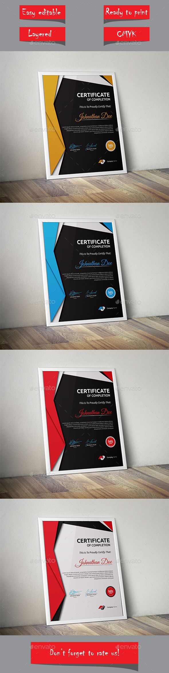 Certificate Template Vector EPS. Download here: http://graphicriver.net/item/certificate/13579072?ref=ksioks