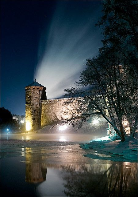 Savonlinna castle - Finland/Suomi. - The most important thing is sufficient and dramatic lighting. If there is no light, you can not see the items; church, castle or other building.