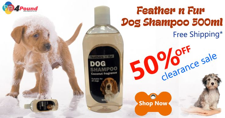 Feather N Fur Dog Shampoo 500 ml for just £1.17 (50% OFF). Get 50 % OFF on all sales with Free Shipping Availability. Product Description : Dog Shampoo Coconut fragrance. Coconut fragrance dog shampoo for shiny and healthy coat. Suitable for all dogs. 500 ml.  http://www.4pound.co.uk/dog-shampoo