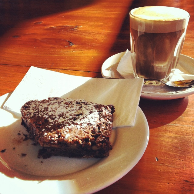 Fancy a trip to Mount Buller? Make sure you make a coffee break in Mansfield's Produce Store and try a chocolate brownie.
