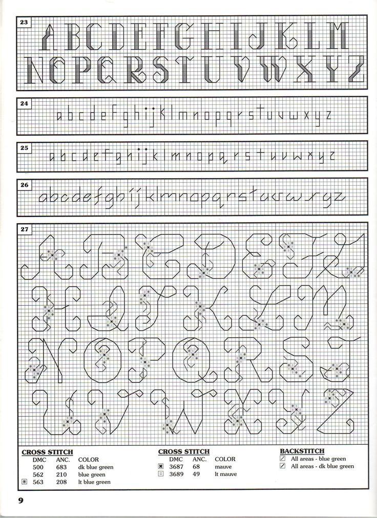 156 besten Cross stitch: Alphabet Bilder auf Pinterest | Kreuzstich ...
